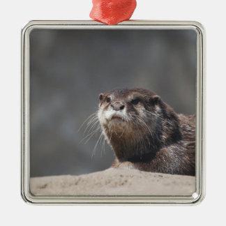 Cute River Otter Christmas Ornaments