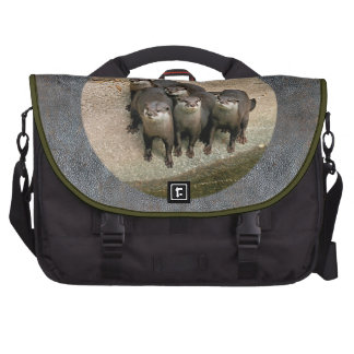 Cute River Otters Family Wildlife Photography Laptop Computer Bag