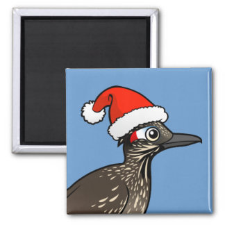 Cute Roadrunner Santa Claus 2 Inch Square Magnet