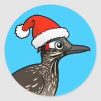 Roadrunner as Santa Claus Round Sticker