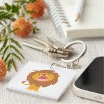 Cute Roaring Cartoon Lion Acrylic Keychain