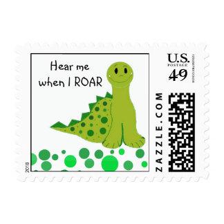 Cute Roaring Dinosaur Postage