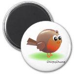 Cute Robin 2 Inch Round Magnet
