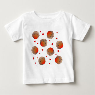 Cute Robin and Red Hearts Design T Shirt