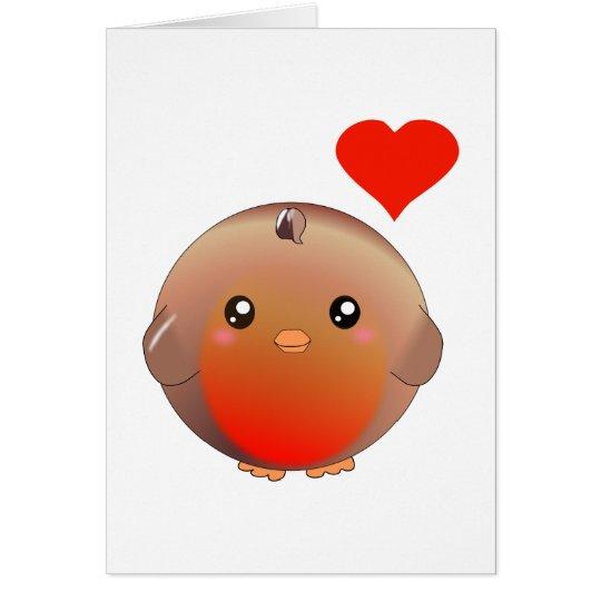 Cute Robin Bird Card