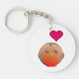 Cute Robin Bird Acrylic Key Chains