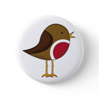 Cute Robin Button button