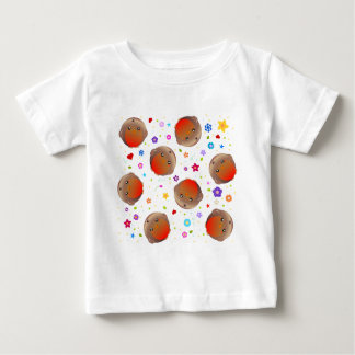 Cute robins and flowers pattern infant t-shirt
