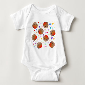 Cute robins and flowers pattern shirt