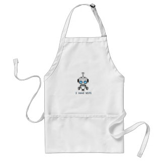 Cute Robot Adult Apron