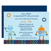 Cute Robot Baby Shower Card