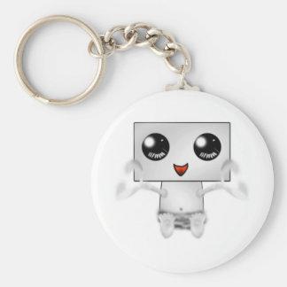 Cute Robot Basic Round Button Keychain