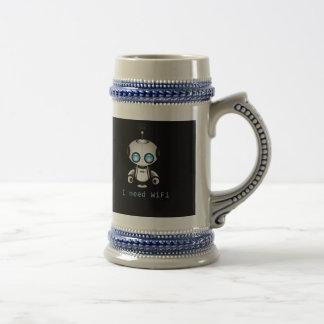 Cute Robot Beer Stein