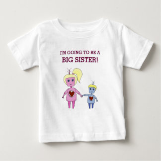 Cute Robot Big Sister and Little Brother Shirt