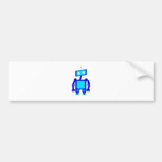 Cute Robot Car Bumper Sticker