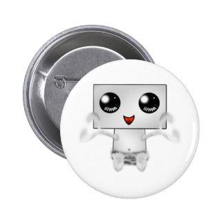 Cute Robot 2 Inch Round Button