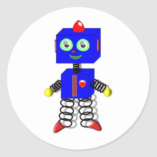 Cute Robot Cake Toppers/Stickers