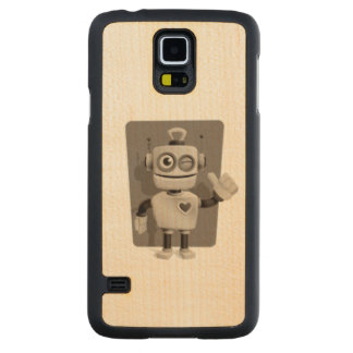 Cute Robot Carved® Maple Galaxy S5 Case