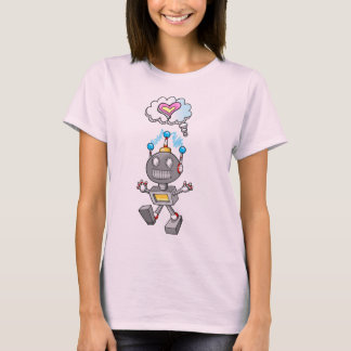 Cute Robot Cyborg Love Thought bubble T-Shirt