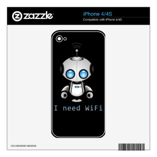 Cute Robot Decal For iPhone 4