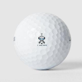 Cute Robot Golf Balls