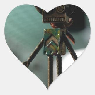 Cute Robot Heart Sticker