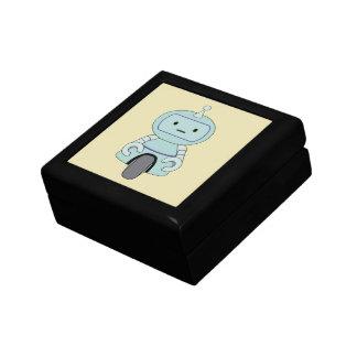Cute Robot Illustration Jewelry Box