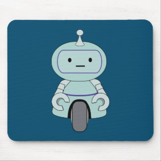 Cute Robot Illustration Mouse Pad