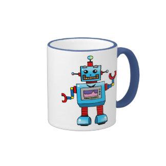 Cute robot ringer coffee mug