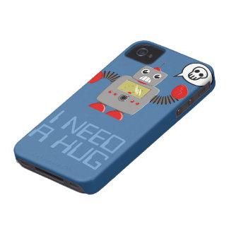 Cute Robot Needs a Hug iPhone 4 case
