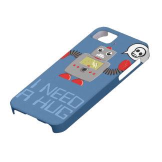 Cute Robot Needs a Hug iPhone 5 case