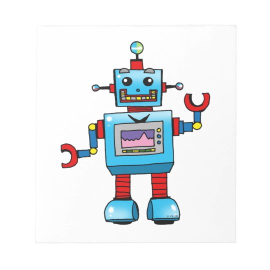 Cute robot notepad