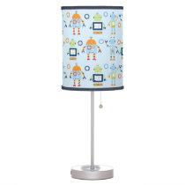 Cute Robot Nursery Table Lamp