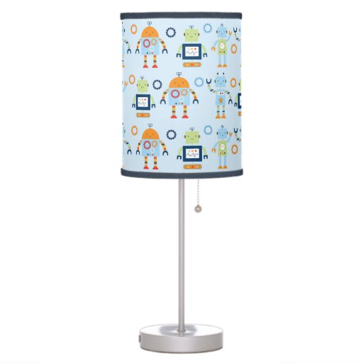 Cute Robot Nursery Table Lamp