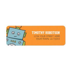 Cute Robot Return Address Labels Return Address Label
