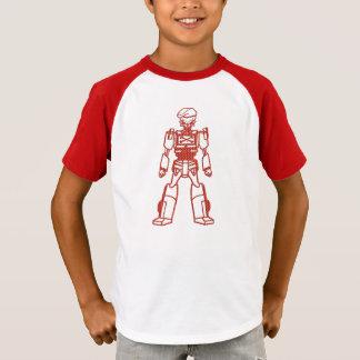 cute Robot skull soldier t-shirt design