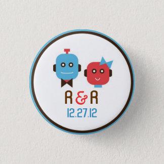 Cute Robot Theme Wedding Pinback Button