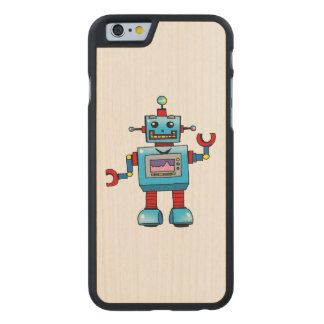 cute robot toy carved® maple iPhone 6 case