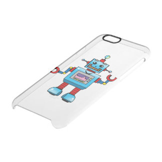cute robot toy clear iPhone 6/6S case