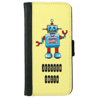 cute robot toy iPhone 6/6s wallet case
