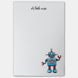 cute robot toy post-it® notes