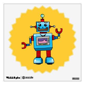 Cute robot wall decal