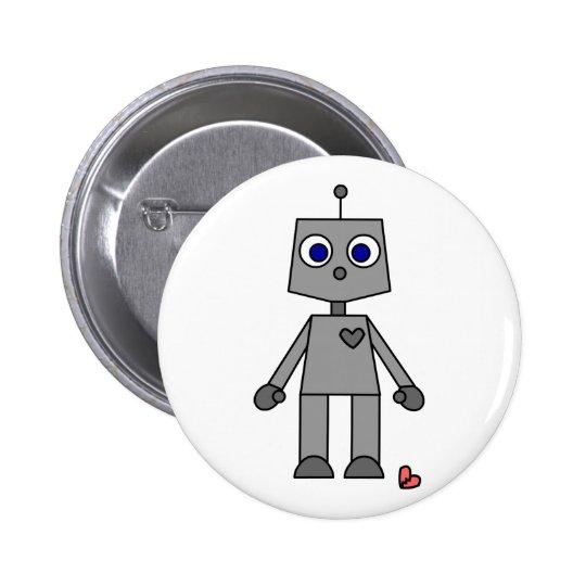 Cute Robot With A Broken Heart Button