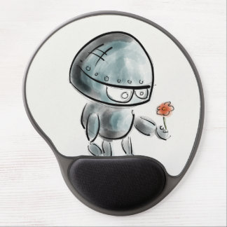 Cute Robot with a flower Gel Mouse Pad