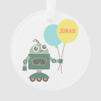 Cute Robot with Balloons for kids room Ornament