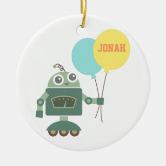 Cute Robot with Balloons for kids room Christmas Ornament
