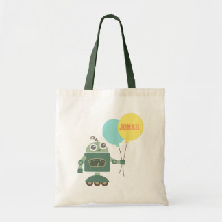 Cute Robot with Balloons for kids Tote Bag