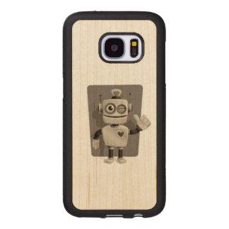 Cute Robot Wood Samsung Galaxy S7 Case