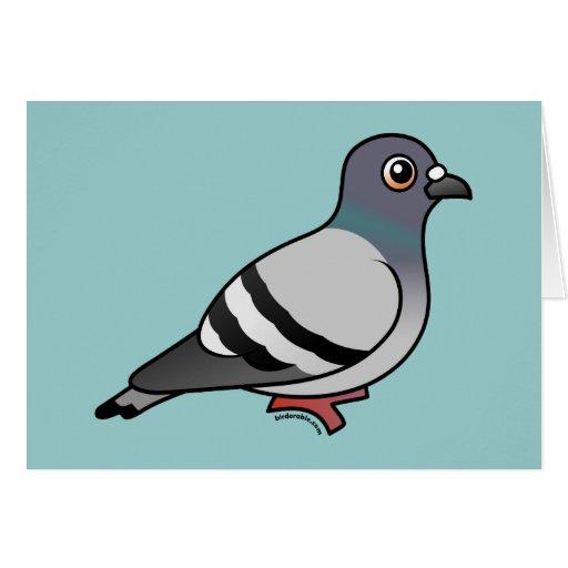 Cute Rock Pigeon Greeting Card