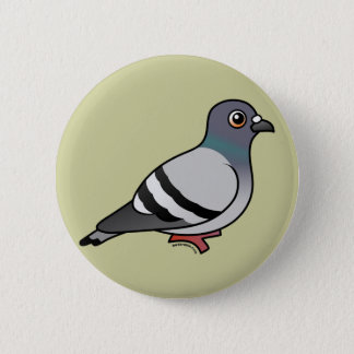 Cute Rock Pigeon Pinback Button
